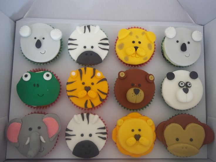 17 best ideas about zoo animal cupcakes on pinterest for Animal cake decoration ideas