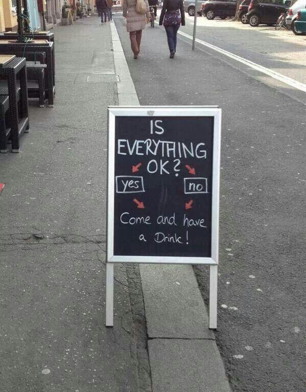 Is everything oké?