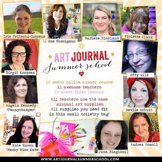 Artjournal Summer School http://andrea-gomoll.de/2015/05/fun-times-ahead-artjournal-summer-school-win-a-spot-for-the-online-class/