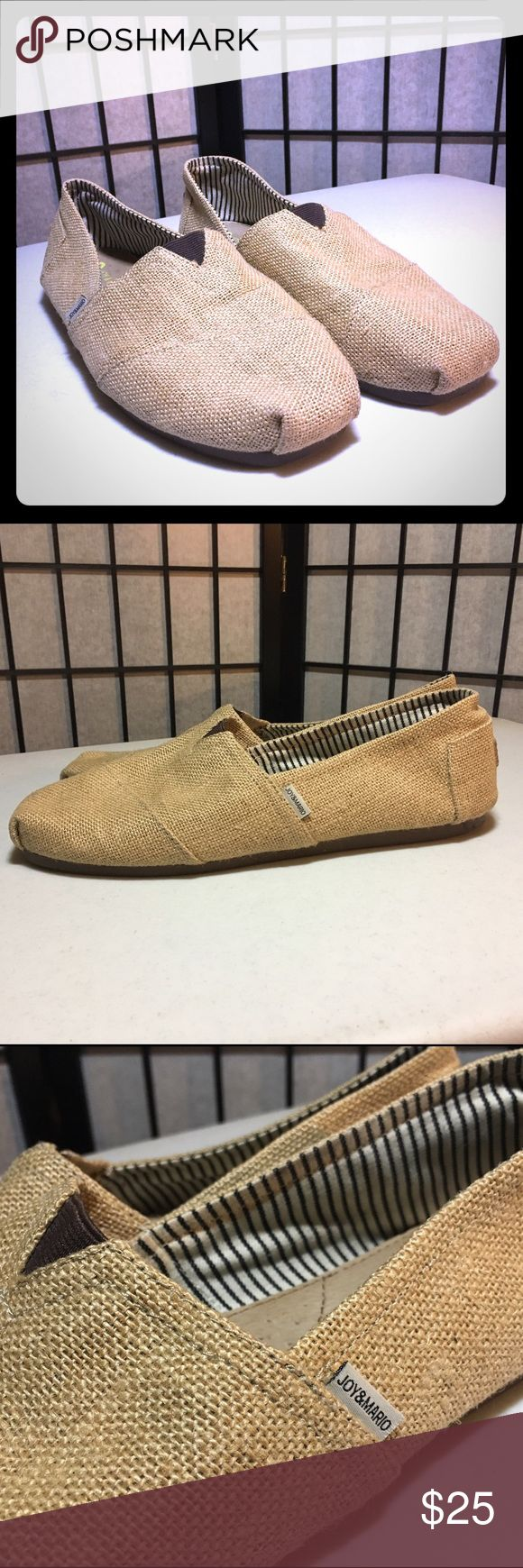 JOY & MARIO Tan Leisure Shoes designed by Italy Beige Toms Style Men's slip on Joy & Mario Shoes Loafers & Slip-Ons