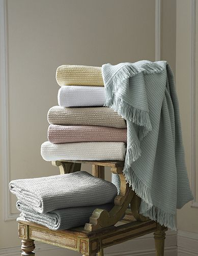 SFERRA's Dorio throw now available in Silversage.