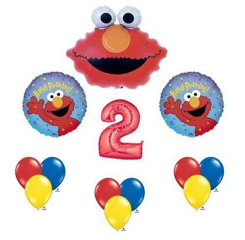 Elmo Sesame Street #2 2nd Second Birthday Party Supply Balloon Mylar Latex Set by Anagram