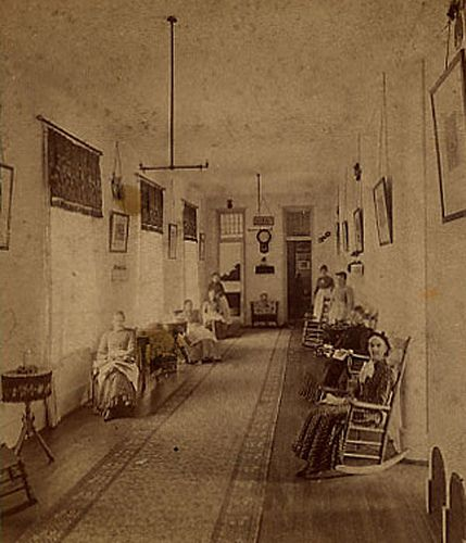 Kalamazoo insane asylum 1870's. It's amazing to think my mom worked here.... It's been around for so long.