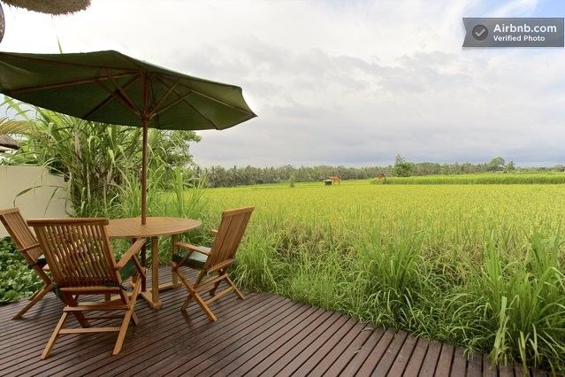 Villa Asmara ... beautiful views of the endless rice fields, fantastic views of the mountains, a private meditation garden and gorgeous private decks! http://baliharmonyvilla.com/
