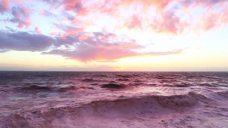 Pink Sunset Over Rough Sea Filmati e video d'archivio 15030493 - Shutterstock