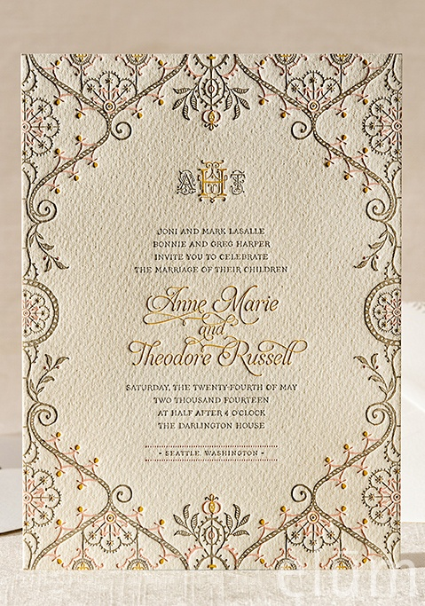 449 best wedding invitations images on pinterest wedding 3 letterpress wedding invitations elum designs letterpress stopboris