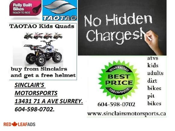 TAO/TAO SPECIAL 110 CC MINI QUADS BEST BUYS IN CANADA TAO/TAO SPECIAL 110 CC MINI QUADS THE BEST QUADS FOR KIDS MONEY CAN BUY. WE ARE HAVING A SALE ON ALL PRODUCTS , GET YOUR ...