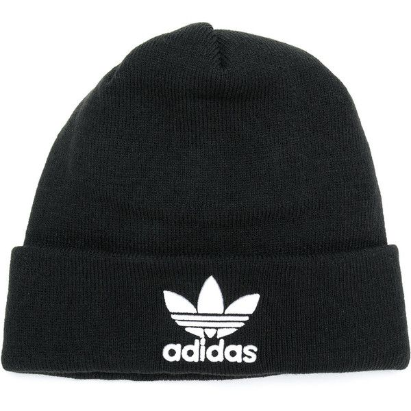 Adidas logo beanie ($38) ❤ liked on Polyvore featuring