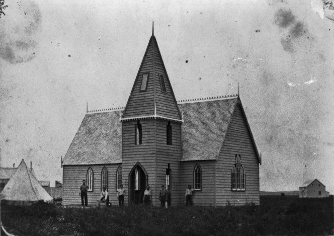 Church at Ngaruawahia 1860s