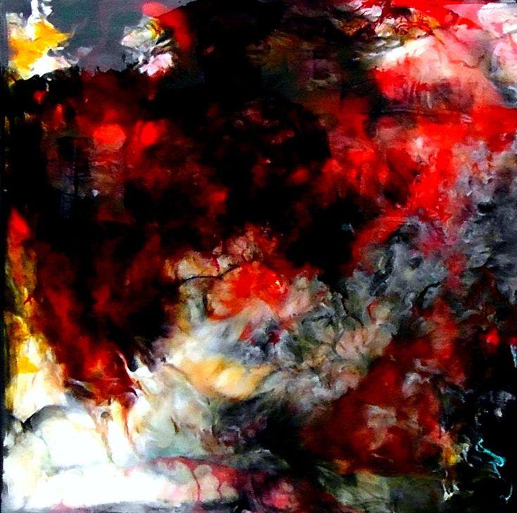 orage (Peinture),  60x60x4 cm par CHARLES CORNIL