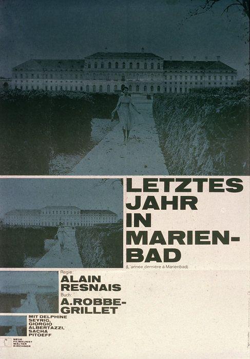 L'Année dernière à Marienbad / Last Year at Marienbad / 去年マリエンバートで (1961) German poster by Hans Hillmann