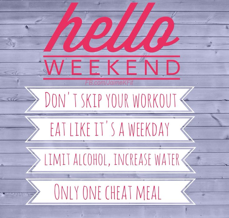 Tips to staying on track over the weekend. Don't ruin all of your hard work!