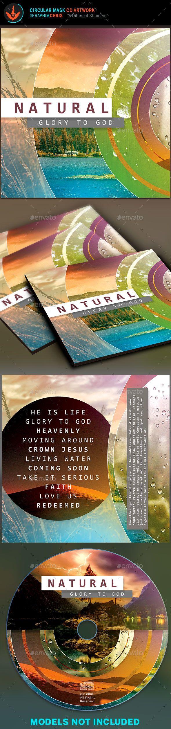 Circular Mask CD Artwork Template 2