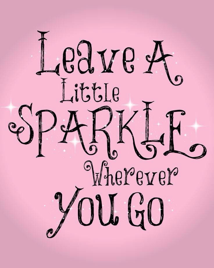 leave a little sparkle printable free friday find this pin and more on good luck quotes - Good Luck Quotes