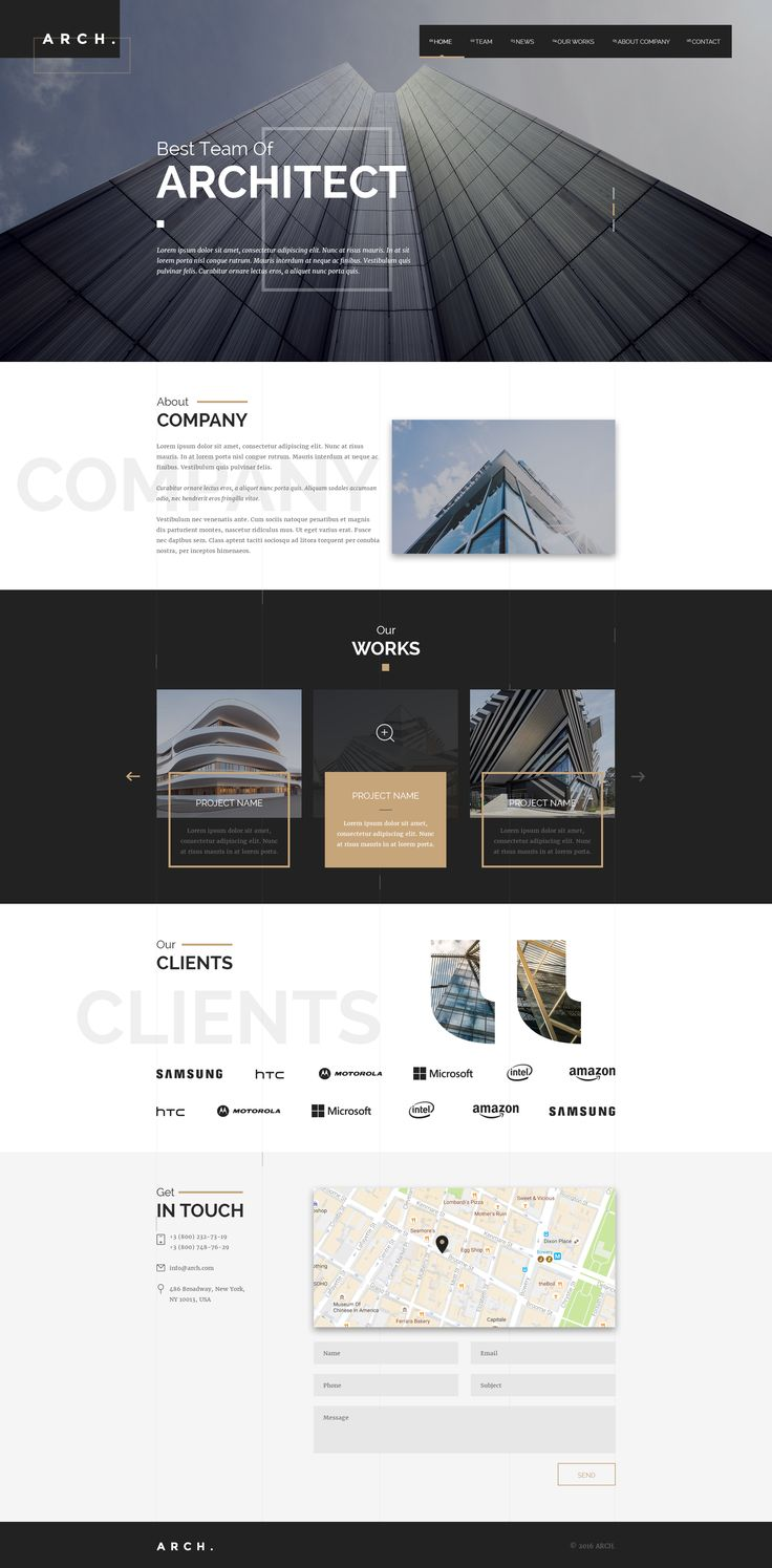 Arch. - Architecture / Architect / Photography Theme by web-lab   ThemeForest