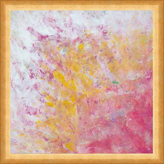 Pastelová abstraktní malby na plátně Chic umění podle JuliaApostolova