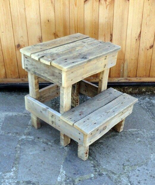 #Pallet stool/rain barrel stand - http://dunway.info/pallets/index.html