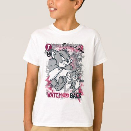 Tom and Jerry Watch Your Back T-Shirt - click to get yours right now!
