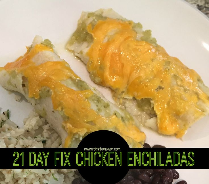I thought I was doomed to never eat enchiladas again on the 21 Day Fix, but I was WRONG!! These 21 Day Fix - Chicken Enchiladas are AMAZING!!!