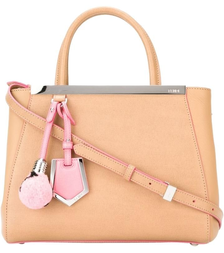 Fendi 2jours With Lightbulb Charm Leather Nude Tote Bag. Get one of the hottest styles of the season! The Fendi 2jours With Lightbulb Charm Leather Nude Tote Bag is a top 10 member favorite on Tradesy. Save on yours before they're sold out!