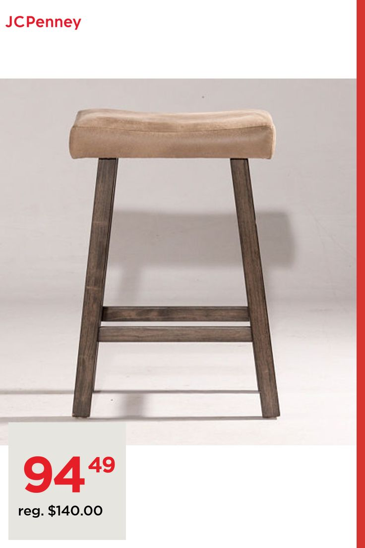 Saddle Non Swivel Backless Counter Stool, One Size , Gray in 9 ...