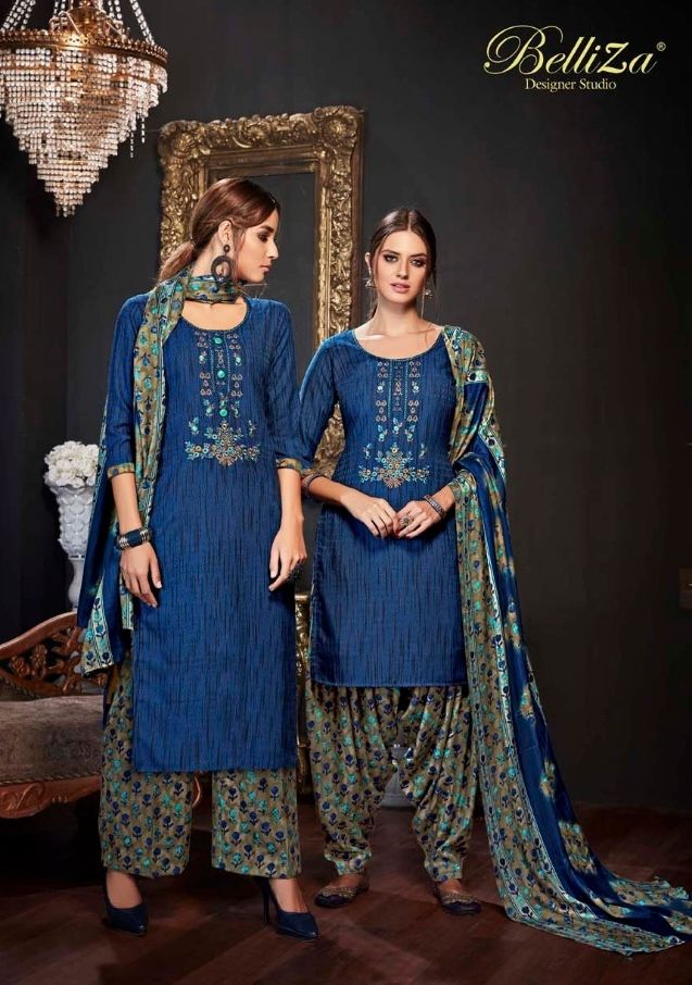 c4cc260609 BELLIZA DESIGNER STUDIO PATIYALA DREAMS DIGITAL PRINTED PURE PASHMINA WITH EMBROIDERY  WORK WINTER SUITS DEALER