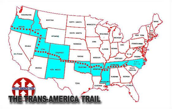 trans america trail map