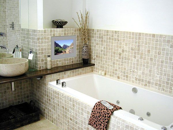 bathroom tv. TV in the bathtub  If only it was this crisp looking less like my 12 best Aquavision Waterproof Television images on Pinterest A tv