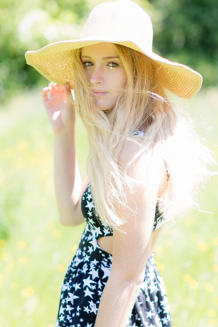 A floppy summer hat