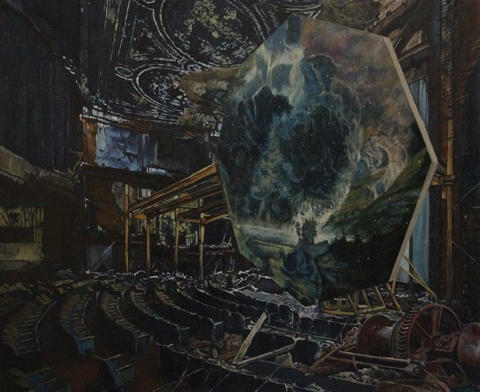 Geoff Diego Litherland | Adjacent: Universal Sigh, oil on canvas, 90x110cm, 2014 @LaceyContemporary.  #londonart,  #britishpainters,  #laceycontemporary,  #contemporaryart