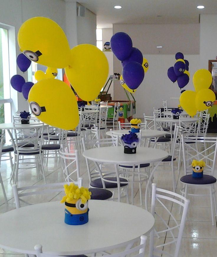 centro de mesa minions - Pesquisa Google