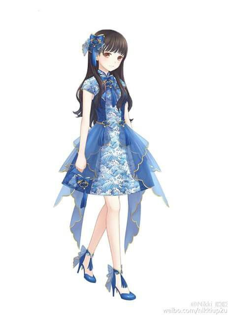 Does anyone else think the dedign on her dress is like chinaware | Cute Outfits- Anime ...