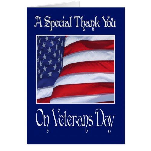 Happy Veterans Day Thank You card