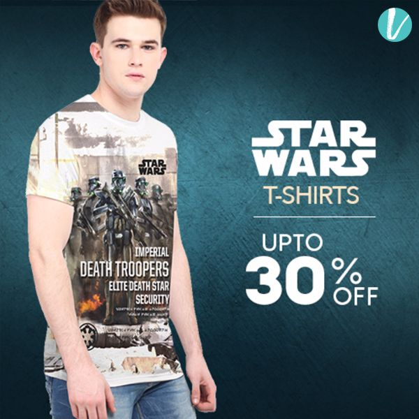 Bring out the Geek in you with these Star Wars T-Shirts! Shop them only on Vilara!  #starwars #geekmodeon #comictshirts #tshirts #menswear #westernwear #vilara