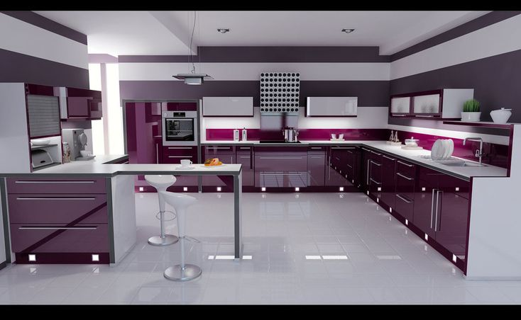 Create a kitchen just like this with RAUVISIO brilliant high-gloss cabinets in Vino   https://www.rehau.com/us-en/furniture/surfaces/rauvisio-brilliant
