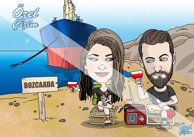 #ozelcizim #karikatur #hediye #dogumgunu #hediyeler #komik #ani #eglenceli #batikgemi #bozcaada