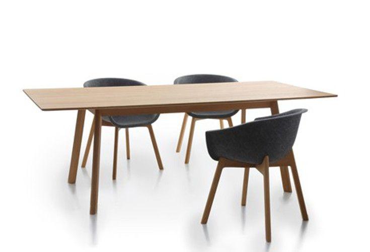 Stół Pad Table Wood - nowoczesne wzornictwo i naturalne materiały. Mebel wykonany z drewna dębowego.