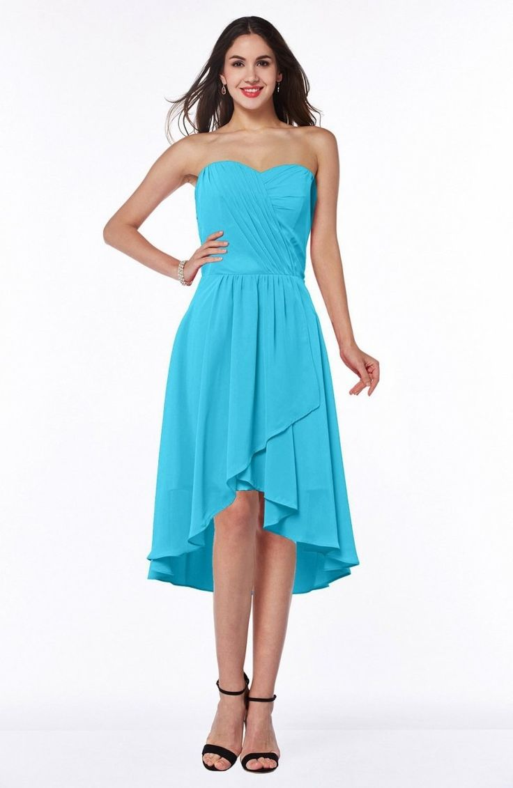 Turquoise Bridesmaid Dress - Mature A-line Sleeveless Zip up Ruching Plus Size Maxi