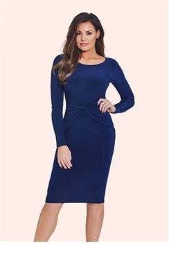 Jessica Wright Lauren Navy Bodycon Midi Dress    £60.00