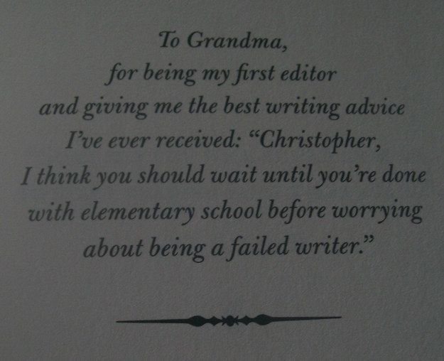The Land of Stories by Chris Colfer | Community Post: 26 Of The Greatest Book Dedications You Will Ever Read