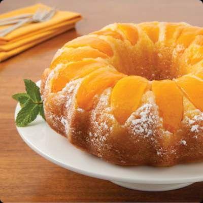 Double Peach Pound Cake recipe - peach arrangement only, need a scratch cake recipe