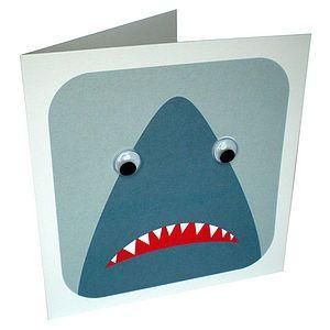 Wobbly Eyed Shark Card - birthday cards