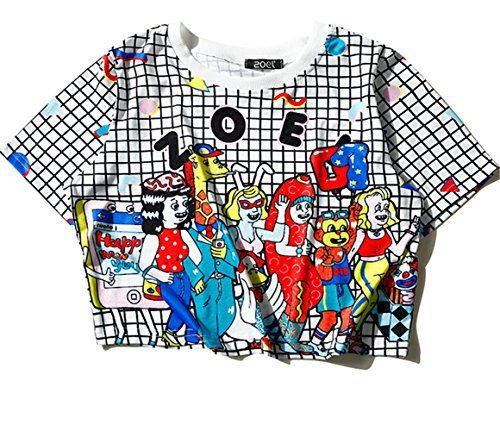 (シーファニー)Cfanny レディース Tシャツ ショット丈 チェック 半袖 プリント T3654 白 Cfanny https://www.amazon.co.jp/dp/B06XD9QB7S/ref=cm_sw_r_pi_dp_x_.Tj3yb78ADHQ2