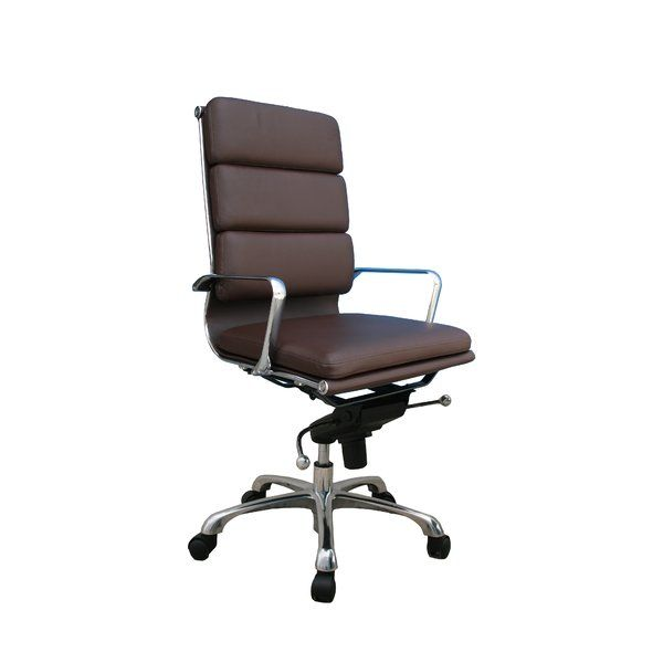 Swivel seat with pneumatic height adjustment is easy to change from a seated position. Adjustable tilt angle, tilt tension and tilt lock let you control the chairs rock and recline. 5-star, oversized base supports a durable, steel-frame construction. Integrated loop arms help relieve shoulder strain by supporting your upper torso.