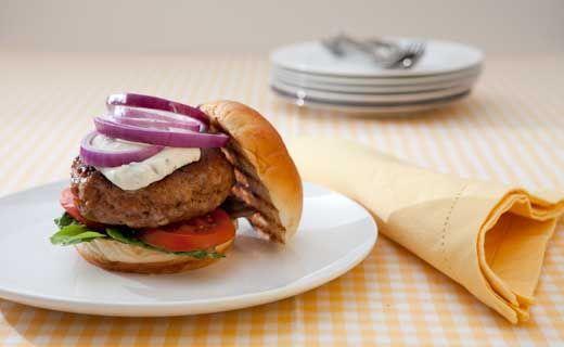 Epicure's Big Batch Spicy Buffalo Chicken Burgers