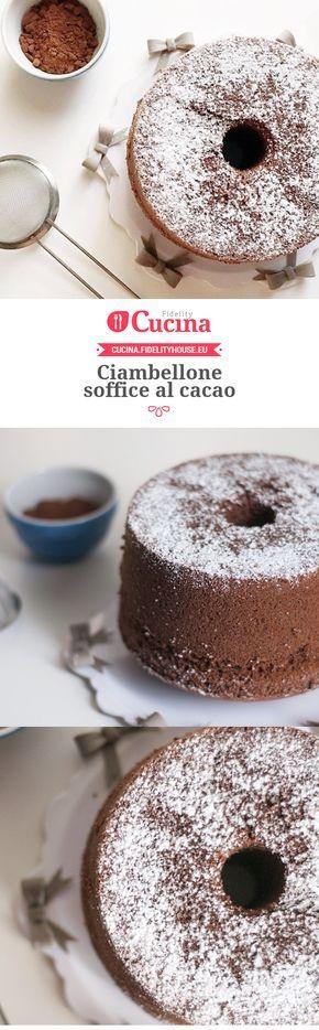 Ciambellone soffice al #cacao della nostra utente Chiara. Unisciti alla nostra Community ed invia le tue ricette!