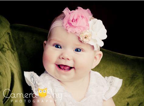 Camerashy photography studio portraits poses inspiration little girl big eyes blue teal headband babies pinterest portrait poses