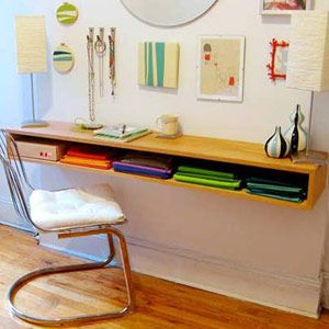 So you need more working space but don't want to buy furniture? Build a shelf desk with these easy steps.