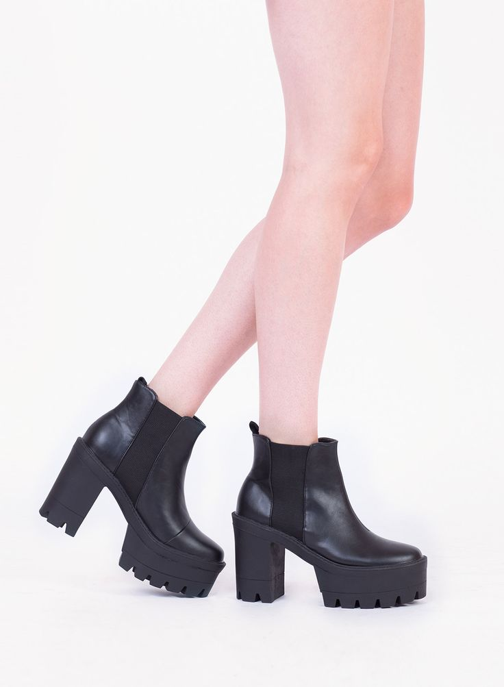 Chunky Heel Chelsea Boot | Love Clothing Faves | Pinterest | Boots ...