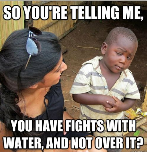 First World Problems Read By Third World Kids - Water Is Life
